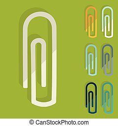 Flat design: paper clip
