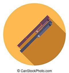 Flat design pen icon