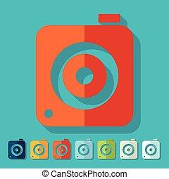 Flat design. photo camera
