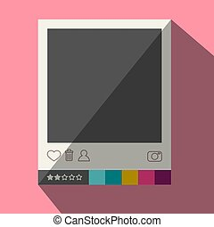 Flat Design Photo Frame Icon