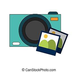 photographic camera and photos  icon