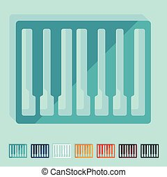 Flat design: piano keys