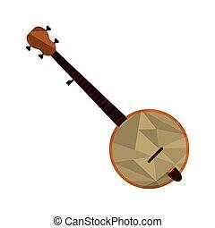 polygon texture banjo icon