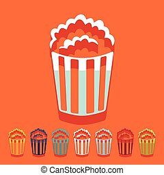 Flat design: popcorn