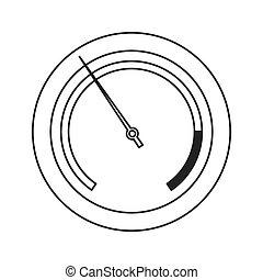 pressure manometer icon - flat design pressure manometer...