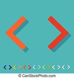 Flat design. programming