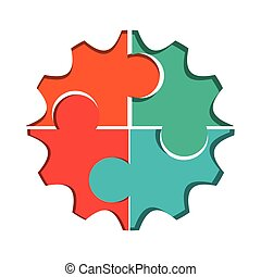 puzzle gears icon