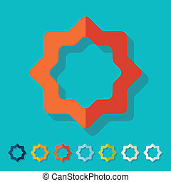 Flat design: ramadan