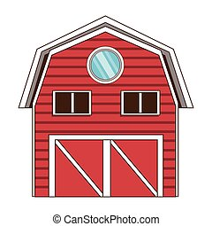 red wooden barn icon