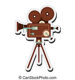 retro film projector icon