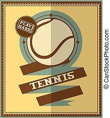 Flat design. Retro tennis poster