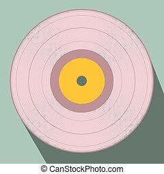 Flat Design Retro Vector Vinyl Record