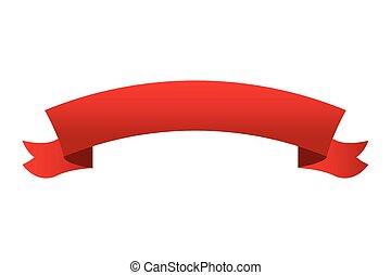 ribbon banner icon