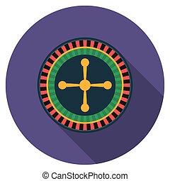 Flat design roulette icon