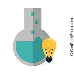 round bottom chemistry flask and lightbulb icon