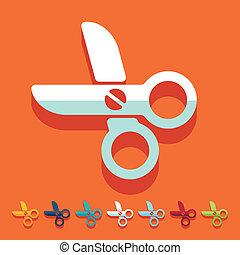 Flat design: scissors