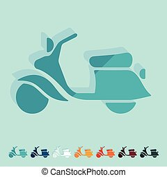 Flat design: scooter