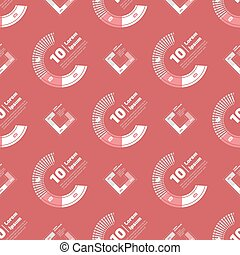 Seamless pattern with financial charts