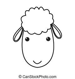 sheep cartoon icon