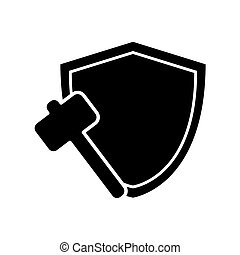 shield and hammer icon