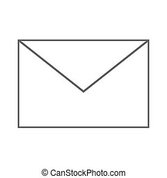 Simple Envelope Icon Vector Illustration Simple Icon Of