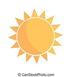 Flat design simple sun icon