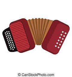 single accordion icon - flat design single accordion icon...