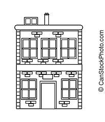 single brick building icon