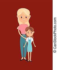 single parent family image
