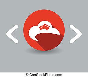 flat design sky icon