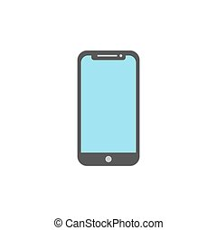 flat design smart phone