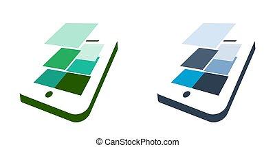 flat design smartphone