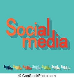 Flat design. social media