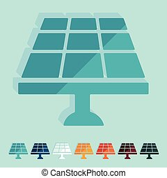 Flat design: solar battery