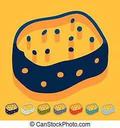 Flat design: sponge