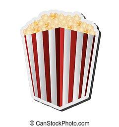 striped popcorn bag icon