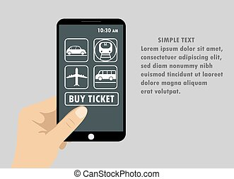 Flat design style vector illustration of modern smartphone