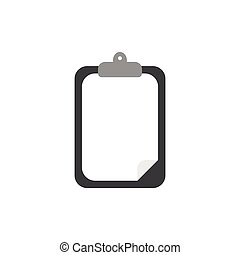 Flat design style vector of clipboard with paper