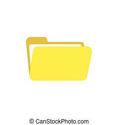 Flat design style vector of open folder icon on white
