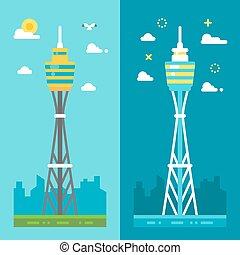 Flat design Sydney tower