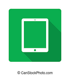 Flat design. Tablet computer icon