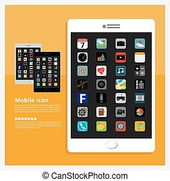 Flat Design Tablet Icon