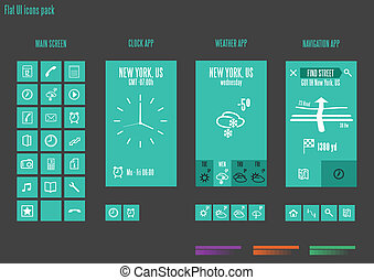 Flat design template - Vector Illustration