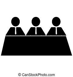 three businessmen icon