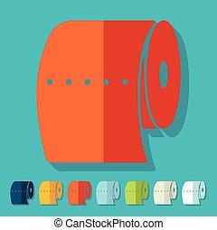 Flat design: toilet paper