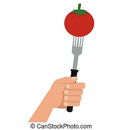tomato on fork icon