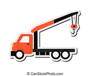 Tow truck icon - flat design Tow truck icon vector...
