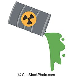 toxic waste contamination icon