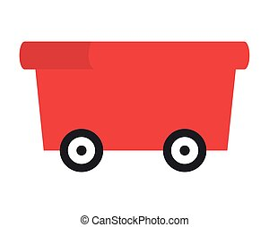 flat design toy wagon icon vector illustration