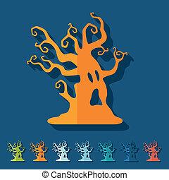 Flat design: tree